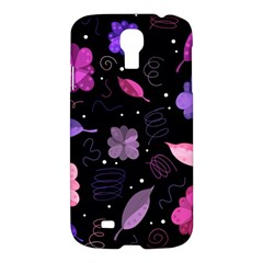 Purple And Pink Flowers  Samsung Galaxy S4 I9500/i9505 Hardshell Case by Valentinaart