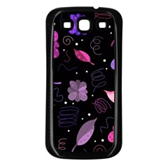 Purple And Pink Flowers  Samsung Galaxy S3 Back Case (black) by Valentinaart