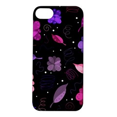 Purple And Pink Flowers  Apple Iphone 5s/ Se Hardshell Case by Valentinaart