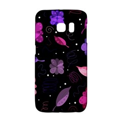 Purple And Pink Flowers  Galaxy S6 Edge