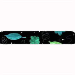 Blue And Green Flowers  Small Bar Mats by Valentinaart