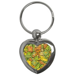 Autumn Flowers Key Chains (heart)  by Valentinaart