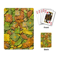 Autumn Flowers Playing Card by Valentinaart