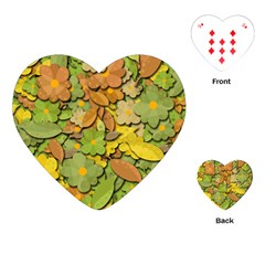 Autumn Flowers Playing Cards (heart)  by Valentinaart
