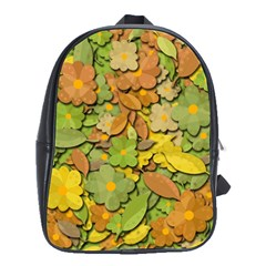 Autumn Flowers School Bags(large)  by Valentinaart