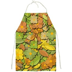 Autumn Flowers Full Print Aprons by Valentinaart