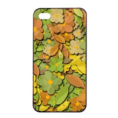 Autumn Flowers Apple Iphone 4/4s Seamless Case (black) by Valentinaart