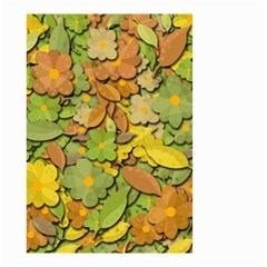 Autumn Flowers Small Garden Flag (two Sides)