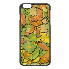 Autumn Flowers Apple Iphone 6 Plus/6s Plus Black Enamel Case by Valentinaart