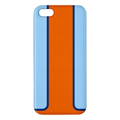 Gulf No Logo Apple Iphone 5 Premium Hardshell Case by PocketRacers