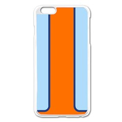 Gulf No Logo Apple Iphone 6 Plus/6s Plus Enamel White Case by PocketRacers