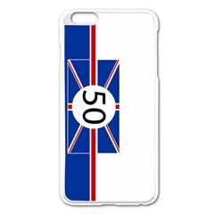 Uk Apple Iphone 6 Plus/6s Plus Enamel White Case by PocketRacers