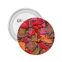Beautiful Floral Design 2 25  Buttons