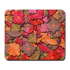 Beautiful Floral Design Large Mousepads by Valentinaart