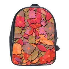 Beautiful Floral Design School Bags(large)  by Valentinaart