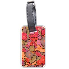 Beautiful Floral Design Luggage Tags (one Side)