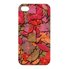 Beautiful Floral Design Apple Iphone 4/4s Hardshell Case by Valentinaart