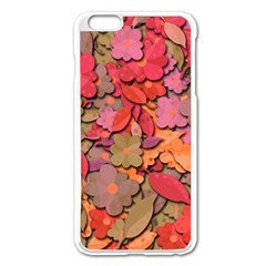Beautiful Floral Design Apple Iphone 6 Plus/6s Plus Enamel White Case by Valentinaart