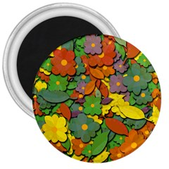 Decorative Flowers 3  Magnets by Valentinaart