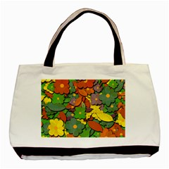Decorative Flowers Basic Tote Bag (two Sides) by Valentinaart