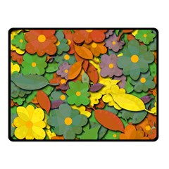 Decorative Flowers Fleece Blanket (small) by Valentinaart
