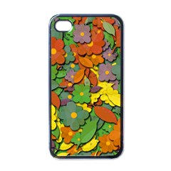 Decorative Flowers Apple Iphone 4 Case (black) by Valentinaart