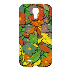 Decorative Flowers Samsung Galaxy S4 I9500/i9505 Hardshell Case by Valentinaart
