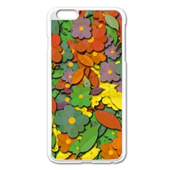 Decorative Flowers Apple Iphone 6 Plus/6s Plus Enamel White Case by Valentinaart