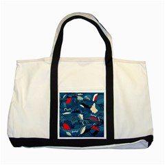 Ocean Two Tone Tote Bag by Valentinaart