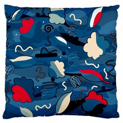 Ocean Large Flano Cushion Case (one Side) by Valentinaart