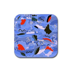 Sea Rubber Square Coaster (4 Pack)  by Valentinaart