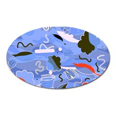 Sea Oval Magnet by Valentinaart