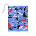 Sea Drawstring Pouches (Large)  Back