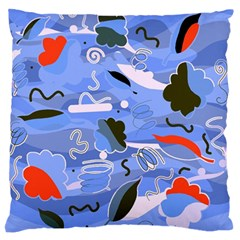 Sea Large Flano Cushion Case (two Sides)