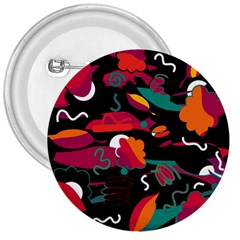 Colorful Abstract Art  3  Buttons by Valentinaart