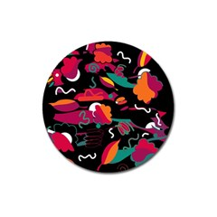 Colorful Abstract Art  Magnet 3  (round) by Valentinaart
