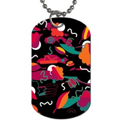 Colorful Abstract Art  Dog Tag (two Sides) by Valentinaart