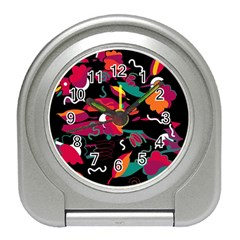Colorful Abstract Art  Travel Alarm Clocks by Valentinaart