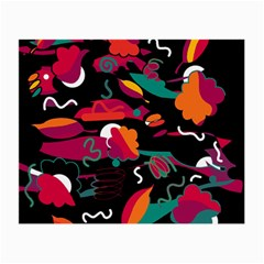 Colorful Abstract Art  Small Glasses Cloth