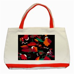 Colorful Abstract Art  Classic Tote Bag (red) by Valentinaart