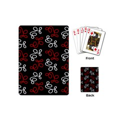 Elegance   Red  Playing Cards (mini)