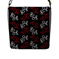 Elegance   Red  Flap Messenger Bag (l)