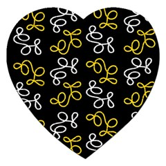 Elegance   Yellow Jigsaw Puzzle (heart) by Valentinaart