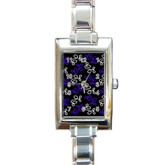 Elegance   Blue Rectangle Italian Charm Watch by Valentinaart