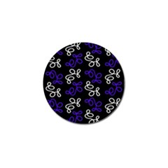 Elegance   Blue Golf Ball Marker (4 Pack)