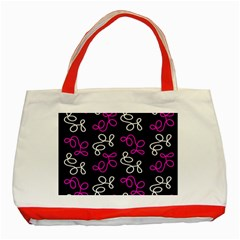 Elegance   Magenta  Classic Tote Bag (red) by Valentinaart