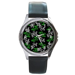 Elegance   Green Round Metal Watch by Valentinaart