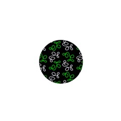 Elegance - Green 1  Mini Magnets by Valentinaart