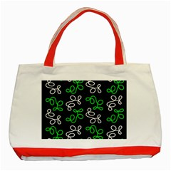 Elegance   Green Classic Tote Bag (red) by Valentinaart