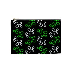 Elegance   Green Cosmetic Bag (medium)  by Valentinaart